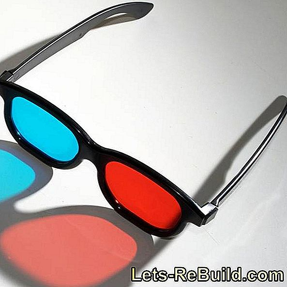 Make 3D glasses yourself: glasses