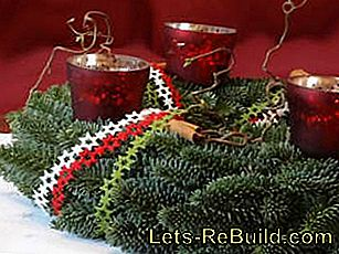 Make Christmas wreath itself - crafting instructions for homemade Advent wreaths: instructions