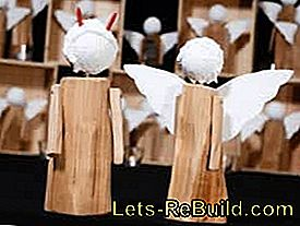 Crafting instructions for Christmas angels: crafting