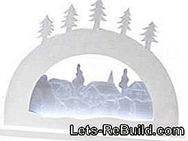 Construction manual for a modern LED candle arch: construction