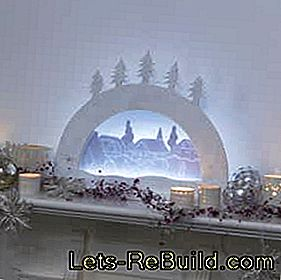 Construction manual for a modern LED candle arch: arch