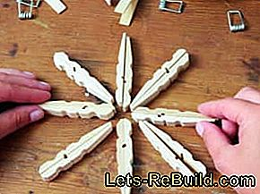 Instructions: Make Christmas star out of clothespins: clothespins