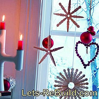 Instructions: Make Christmas star out of clothespins: star