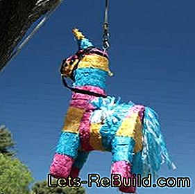 Piñata make for the children's birthday: birthday