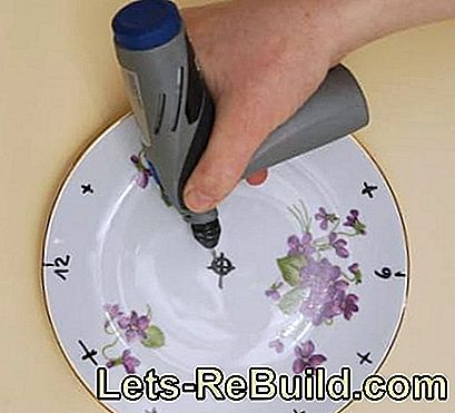 Make a clock - shape a plate as a clock: make