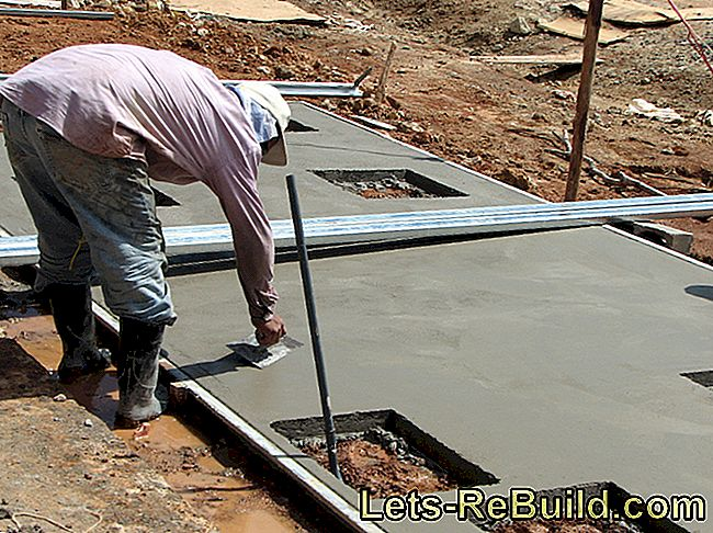 The four-layer construction of concrete floor