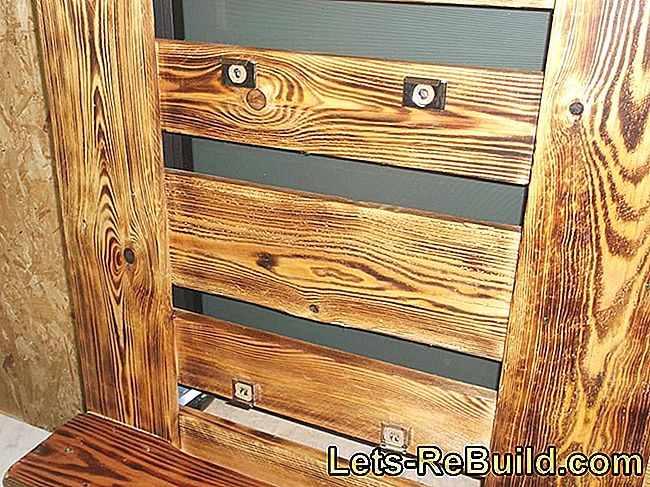 Building a pallet rack - building instructions for wall shelves made of pallets: building