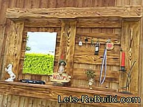 Building a pallet rack - building instructions for wall shelves made of pallets: wall