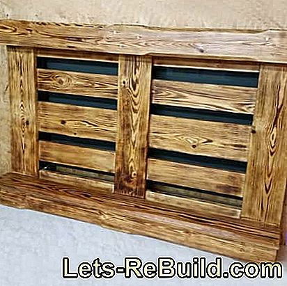 Building a pallet rack - building instructions for wall shelves made of pallets: rack