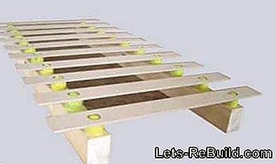 Build slatted frame yourself: tennis ball bed: frame