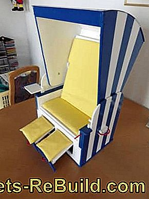 Build beach chair yourself: plywood