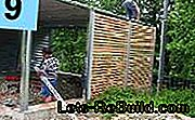 Carport with privacy screen - construction manual: privacy