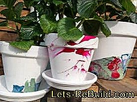 Create flowerpots yourself: yourself