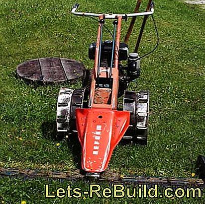 Front mower for rough work in the field: mower