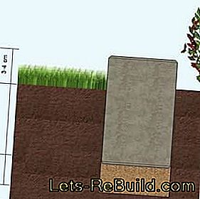 Lay lawn edge stones and place lawn completion stones for the lawn edge: place