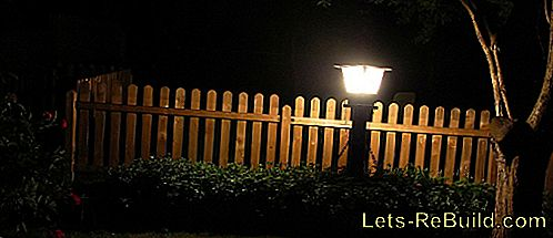 Garden Lighting By Electric Light
