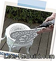 Restore metal garden furniture: instructions