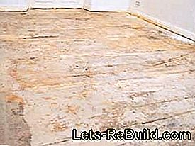 Renovating the board floor: Sand down and seal the wooden floorboards: floor