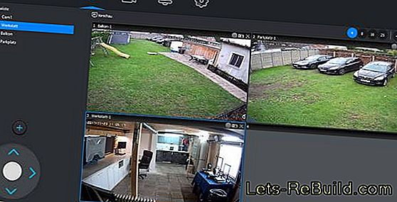 IP camera test: HiKam in outdoor and indoor: outdoor