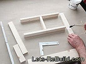 Build window frame as a wall decoration yourself: window