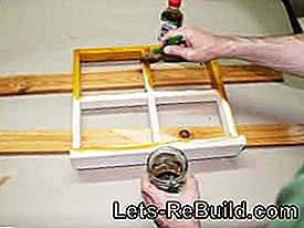 Build window frame as a wall decoration yourself: frame