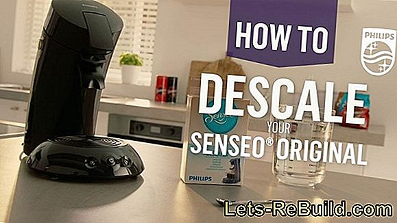 Descale Senseo coffee machine