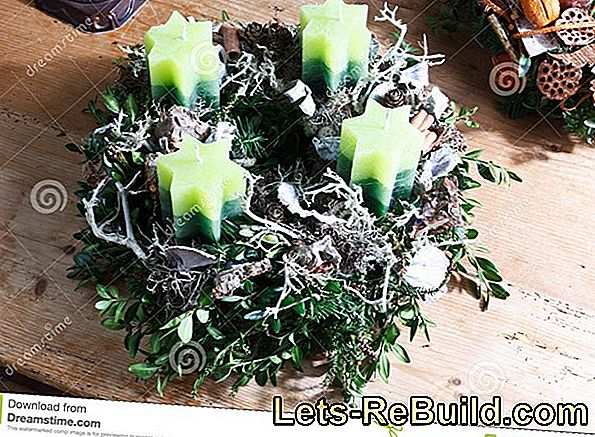Advent wreath: modern and homemade
