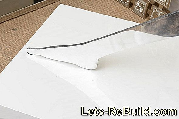Cut aluminum sheet
