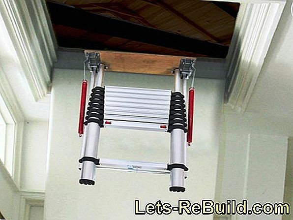Install a retractable attic stairs