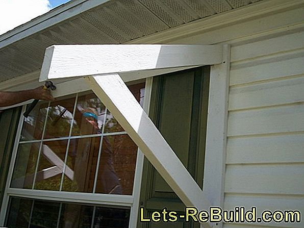Build an awning yourself