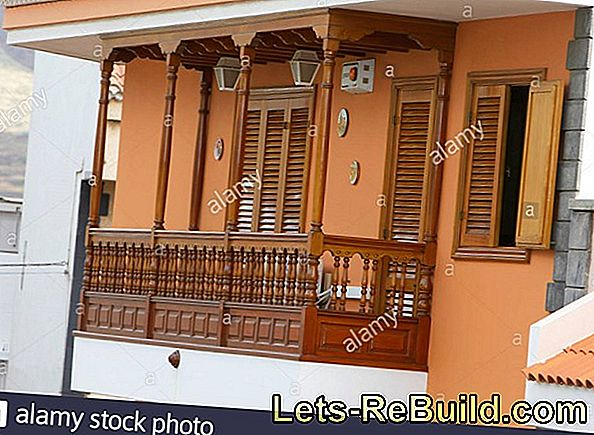Paint a wooden balcony