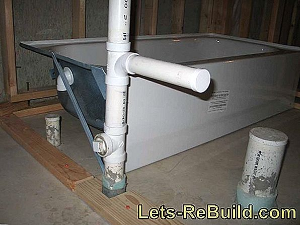 Install the bathtub