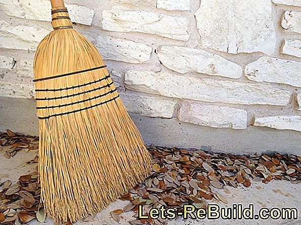 Store brooms gently and clean