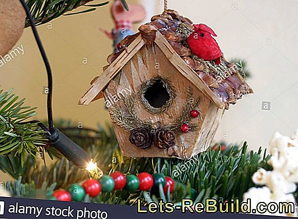 Birdhouse As Christmas Tree Decoration