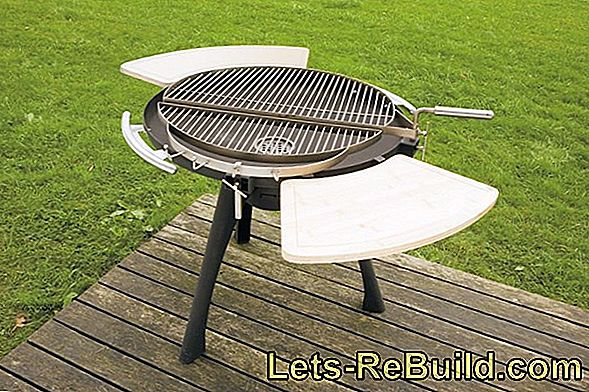 Charcoal barbecue - barbecue and coal grill for balcony and camping