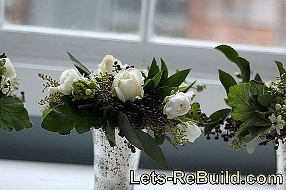 Christmas Arrangements In White - White Christmas With Christmas Flowers