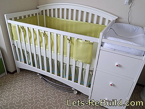 Build the cradle and changing table yourself