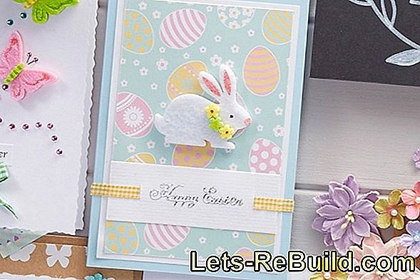 Making Easter cards: templates and craft ideas