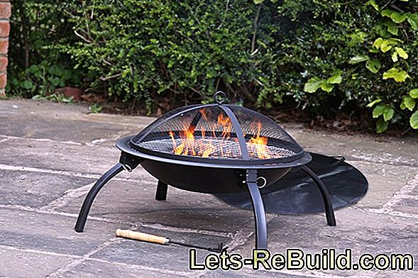 Fire baskets, fire bowls and fireplaces for the terrace