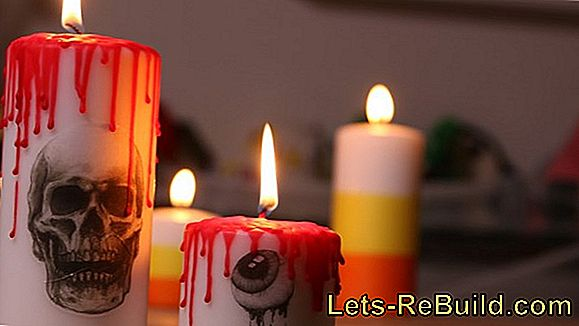 Make Halloween Candles
