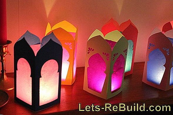Make Halloween lanterns yourself