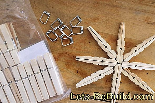 Instructions: Make Christmas star out of clothespins