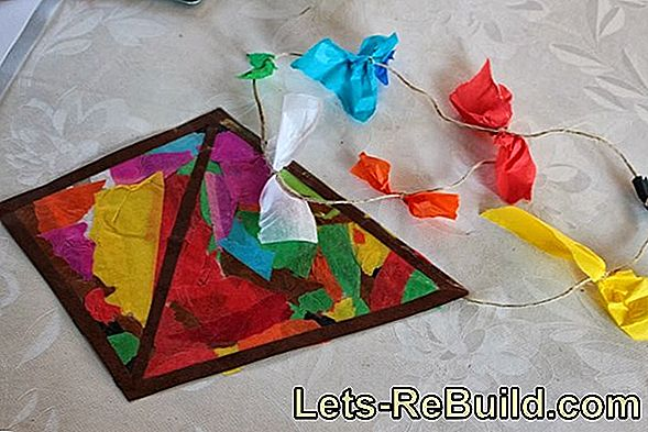 Crafting instructions for paper kites and autumn kites