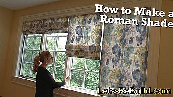 Sew The Roman Shade Yourself