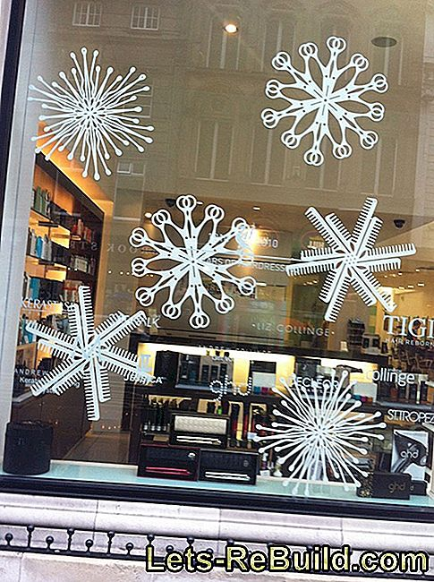 Tinker snowflake window decorations