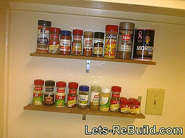 Build a wooden spice rack yourself