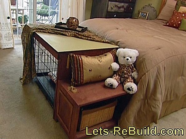 Convert the wardrobe to an animal cage
