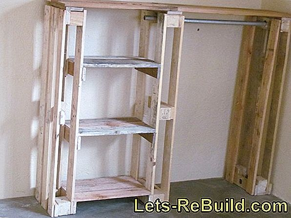 Build wooden ladder wardrobe yourself
