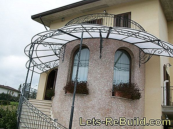 Wrought iron canopies are masterpieces of craftsmanship