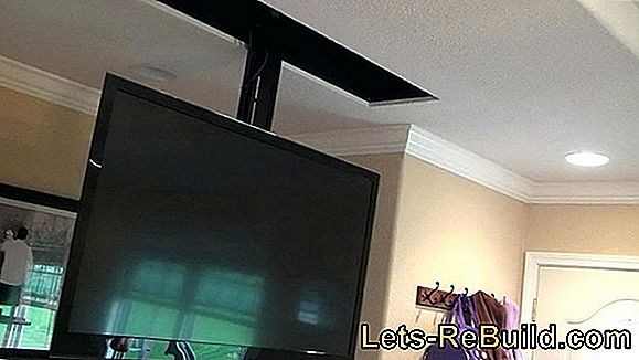 Install a screen retractable on or in the ceiling